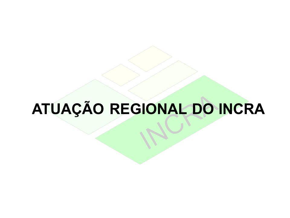 ATUAÇÃO REGIONAL DO INCRA