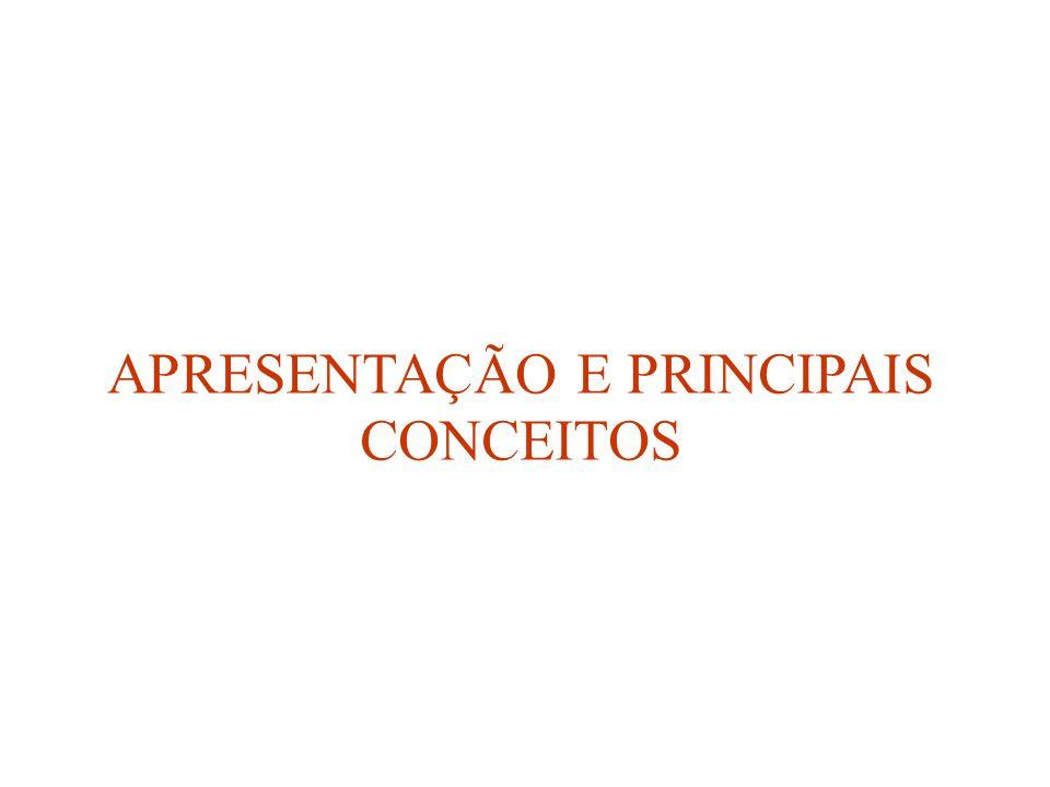 APRESENTAÇÃO E PRINCIPAIS CONCEITOS