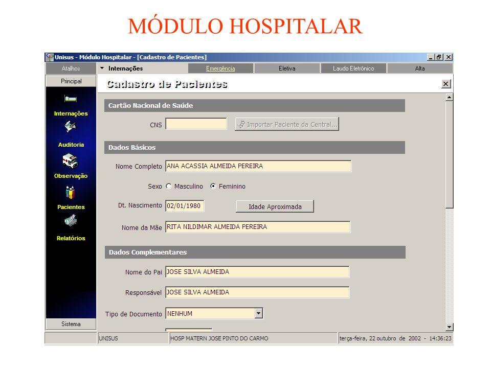MÓDULO HOSPITALAR