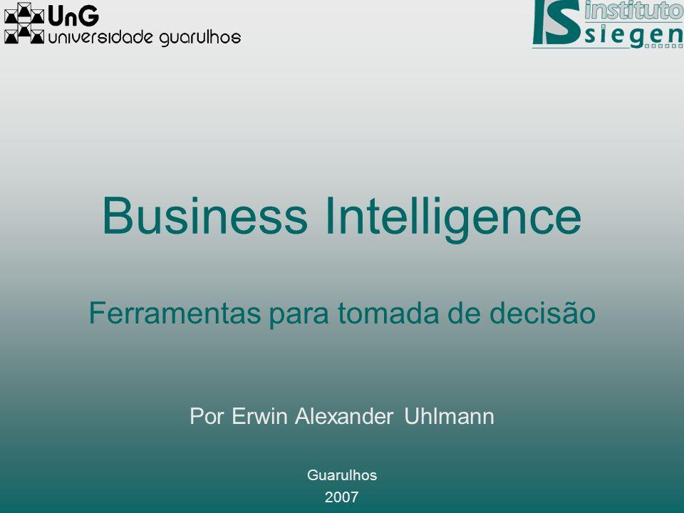 Business Intelligence Ferramentas para tomada de decisão Por Erwin Alexander Uhlmann Guarulhos 2007