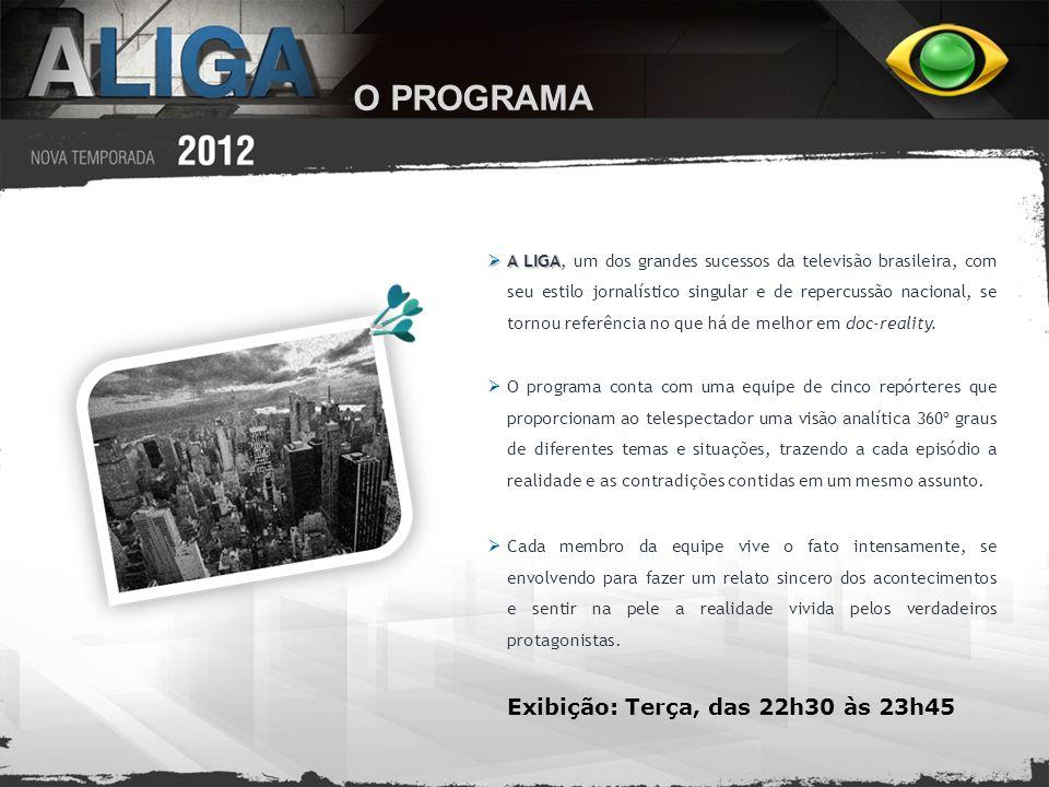 O PROGRAMA A LIGA A LIGA, um dos grandes sucessos da televisão brasileira, com seu estilo jornalístico singular e de repercussão nacional, se tornou r