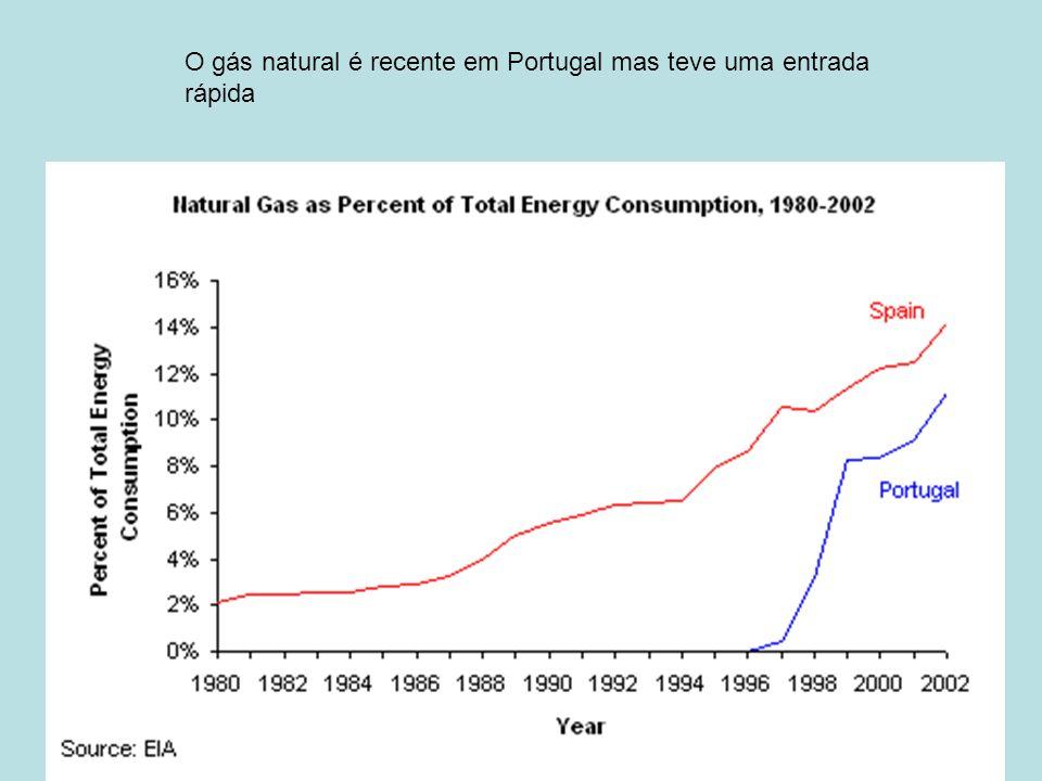 O gás natural é recente em Portugal mas teve uma entrada rápida