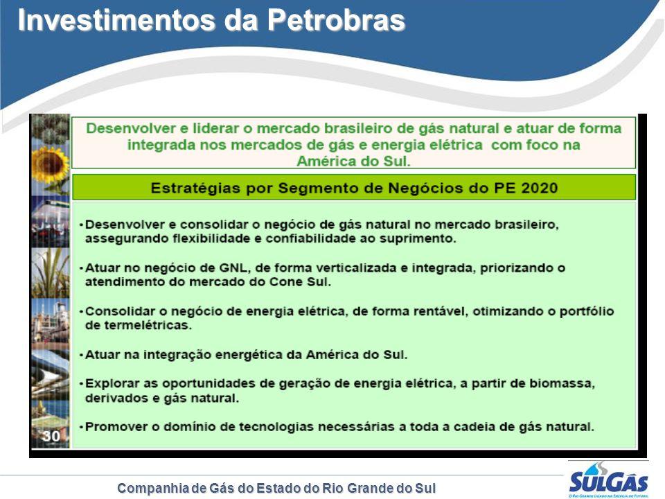 Companhia de Gás do Estado do Rio Grande do Sul Investimentos da Petrobras