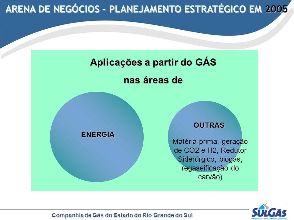 Companhia de Gás do Estado do Rio Grande do Sul ARENA DE NEGÓCIOS – PLANEJAMENTO ESTRATÉGICO EM 2005 ARENA DE NEGÓCIOS – PLANEJAMENTO ESTRATÉGICO EM 2