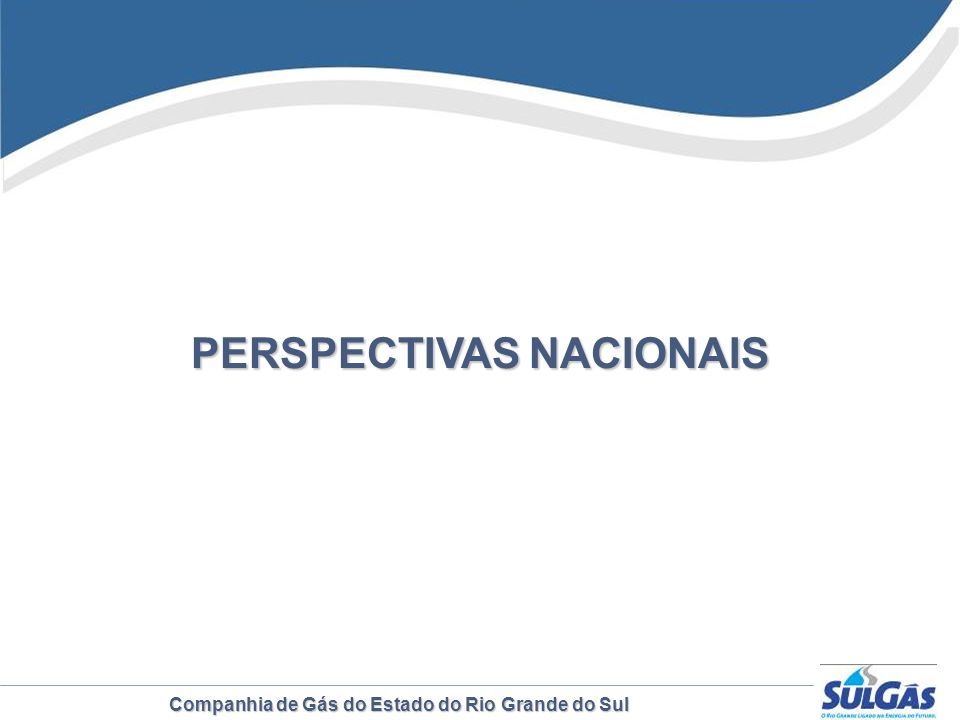 Companhia de Gás do Estado do Rio Grande do Sul PERSPECTIVAS NACIONAIS
