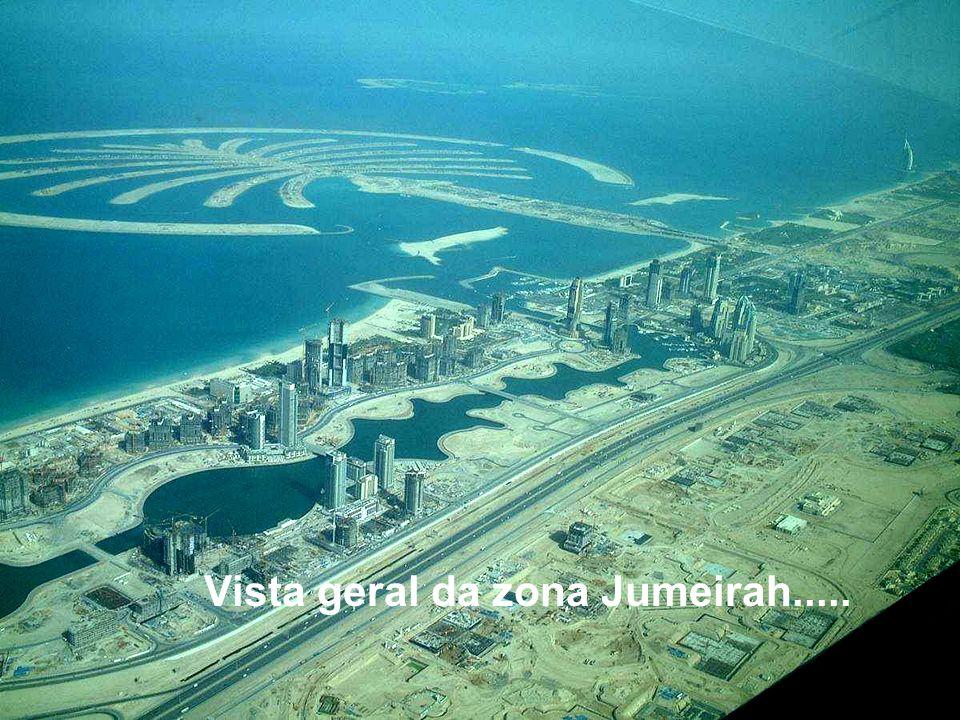 Vista geral da zona Jumeirah.....