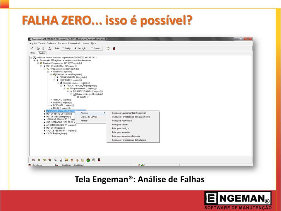 Tela Engeman®: Análise de Falhas FALHA ZERO... isso é possível?