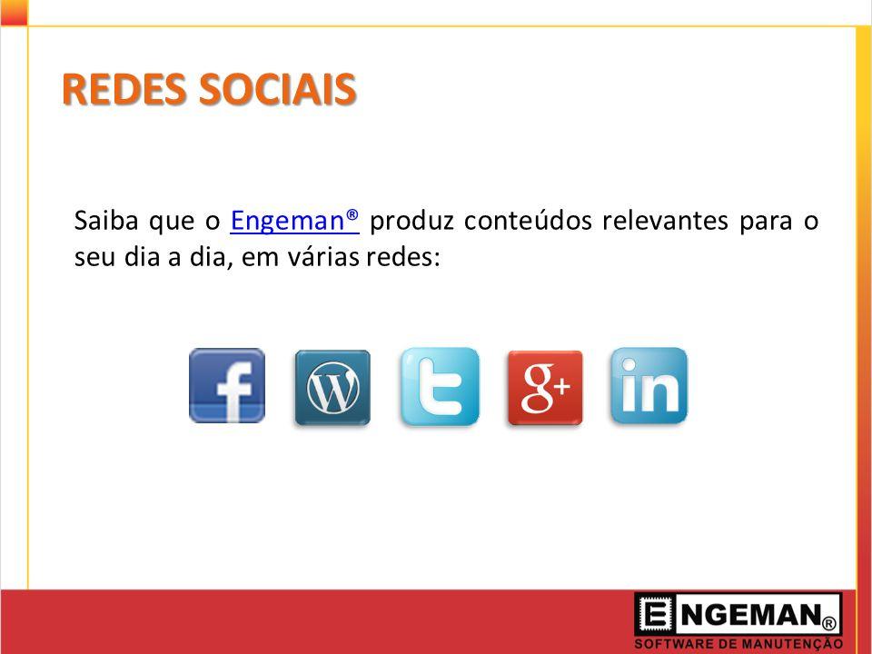 Saiba que o Engeman® produz conteúdos relevantes para o seu dia a dia, em várias redes:Engeman® REDES SOCIAIS