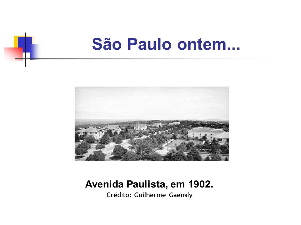 São Paulo ontem... Avenida Paulista, em 1902. Crédito: Guilherme Gaensly