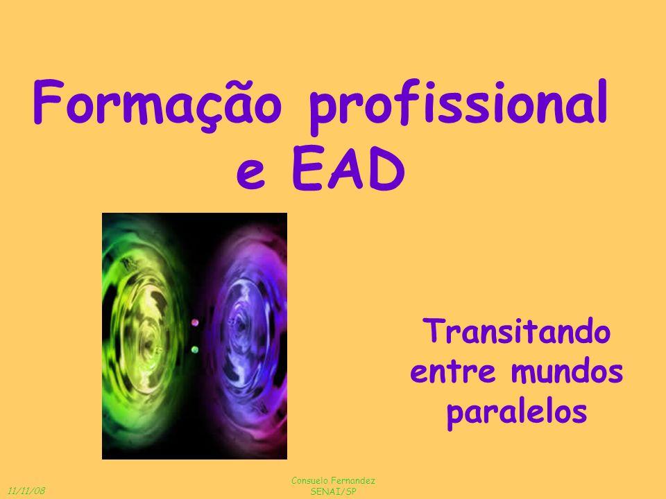 11/11/08 Consuelo Fernandez SENAI/SP Formação profissional e EAD Transitando entre mundos paralelos