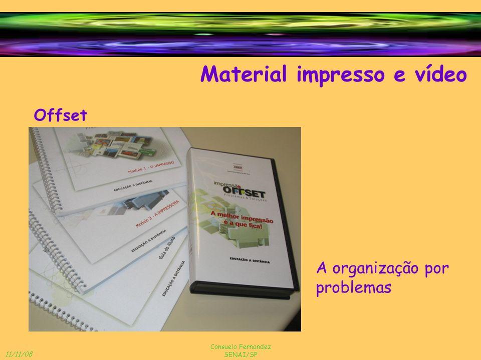 11/11/08 Consuelo Fernandez SENAI/SP Material impresso e vídeo Offset A organização por problemas