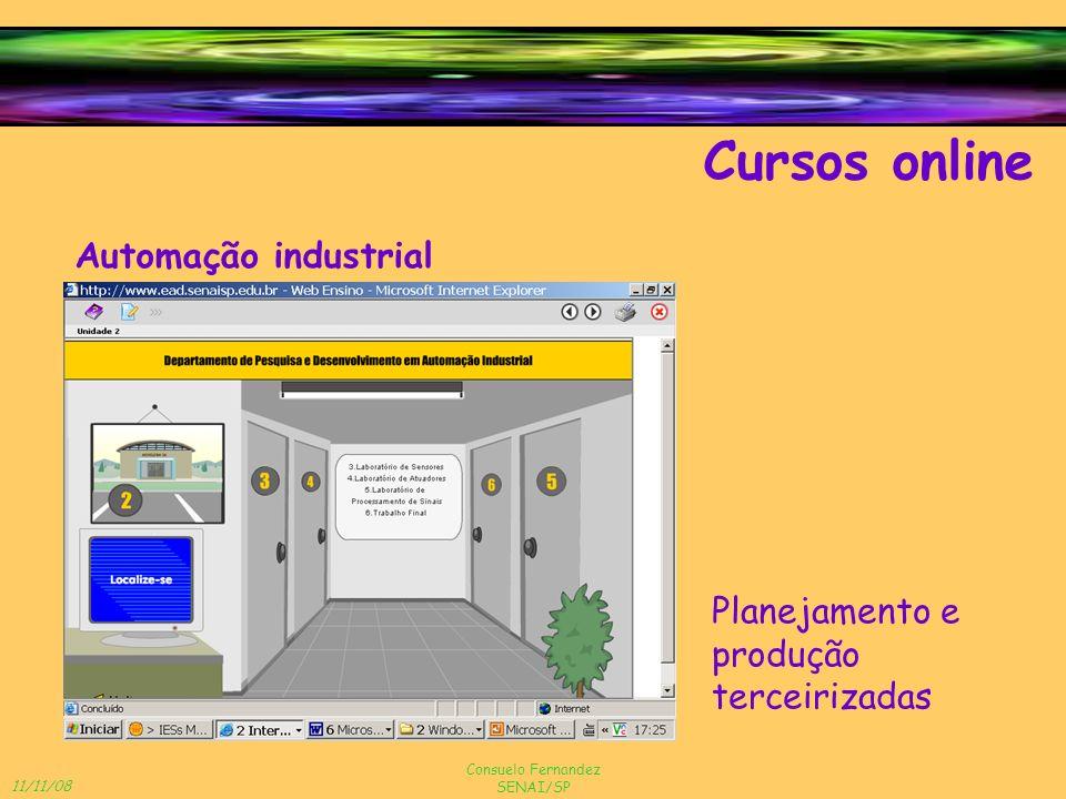 11/11/08 Consuelo Fernandez SENAI/SP Cursos online Automação industrial Planejamento e produção terceirizadas