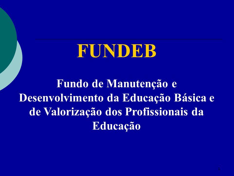 1 FUNDEB Fundo de Manutenção e Desenvolvimento da Educação Básica e de Valorização dos Profissionais da Educação