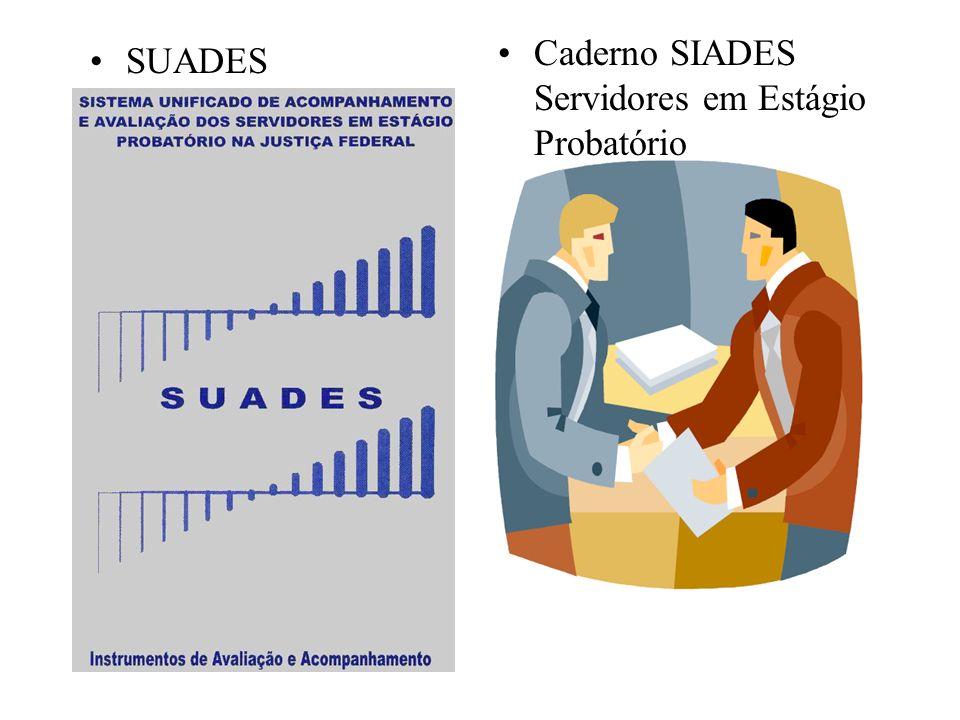 SUADES Caderno SIADES Servidores em Estágio Probatório