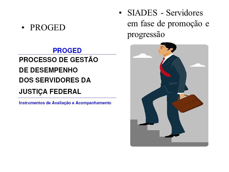 PROGED SIADES - Servidores em fase de promoção e progressão