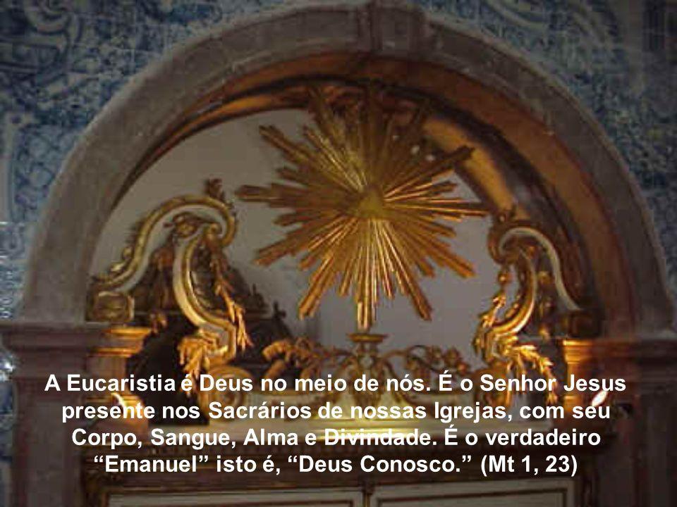 Pela virtude do Sacramento da Eucaristia a alma faz uma refeição espiritual por deleitar-se e inebriar-se pela doçura da bondade divina, segundo o Cân