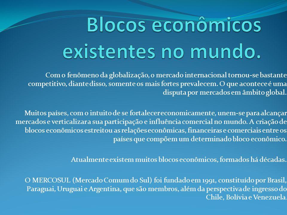 Com o fenômeno da globalização, o mercado internacional tornou-se bastante competitivo, diante disso, somente os mais fortes prevalecem. O que acontec