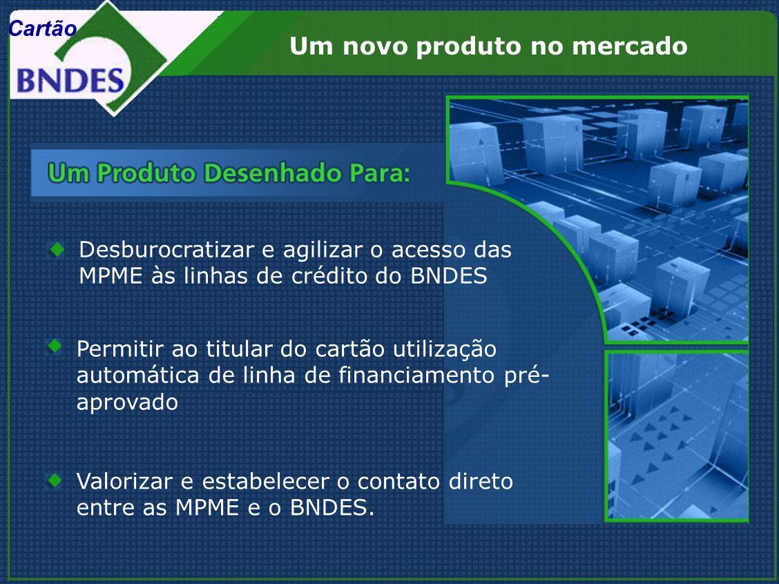 Permitir ao titular do cartão utilização automática de linha de financiamento pré- aprovado Valorizar e estabelecer o contato direto entre as MPME e o