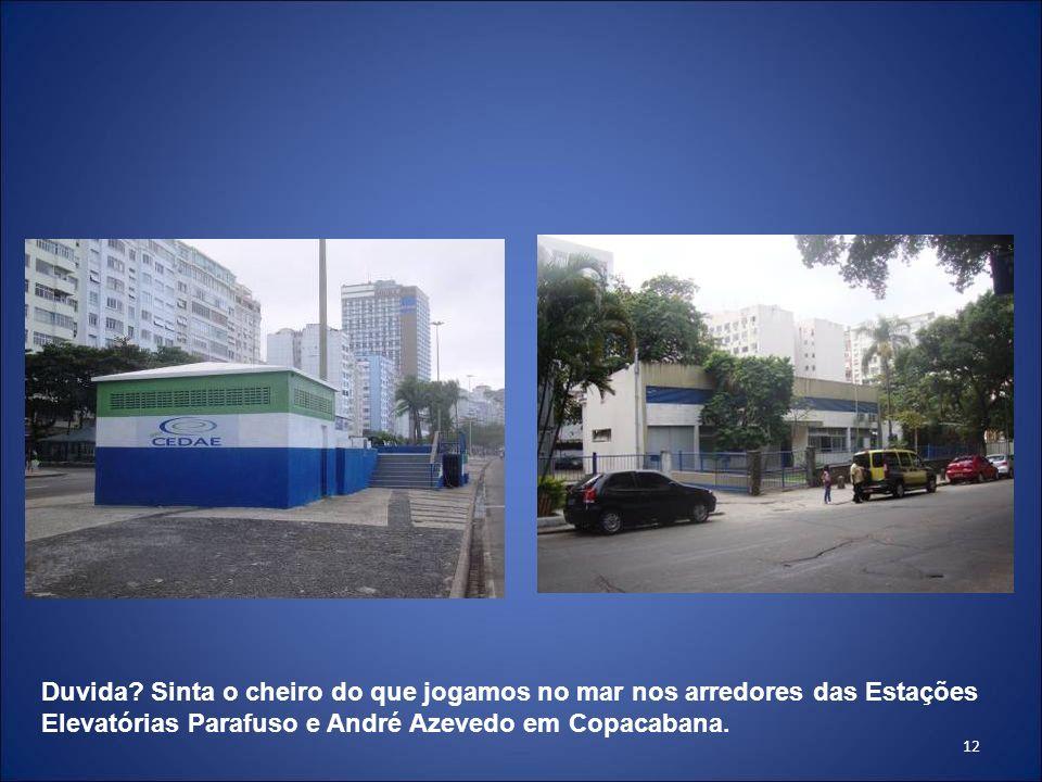 12 Duvida? Sinta o cheiro do que jogamos no mar nos arredores das Estações Elevatórias Parafuso e André Azevedo em Copacabana.