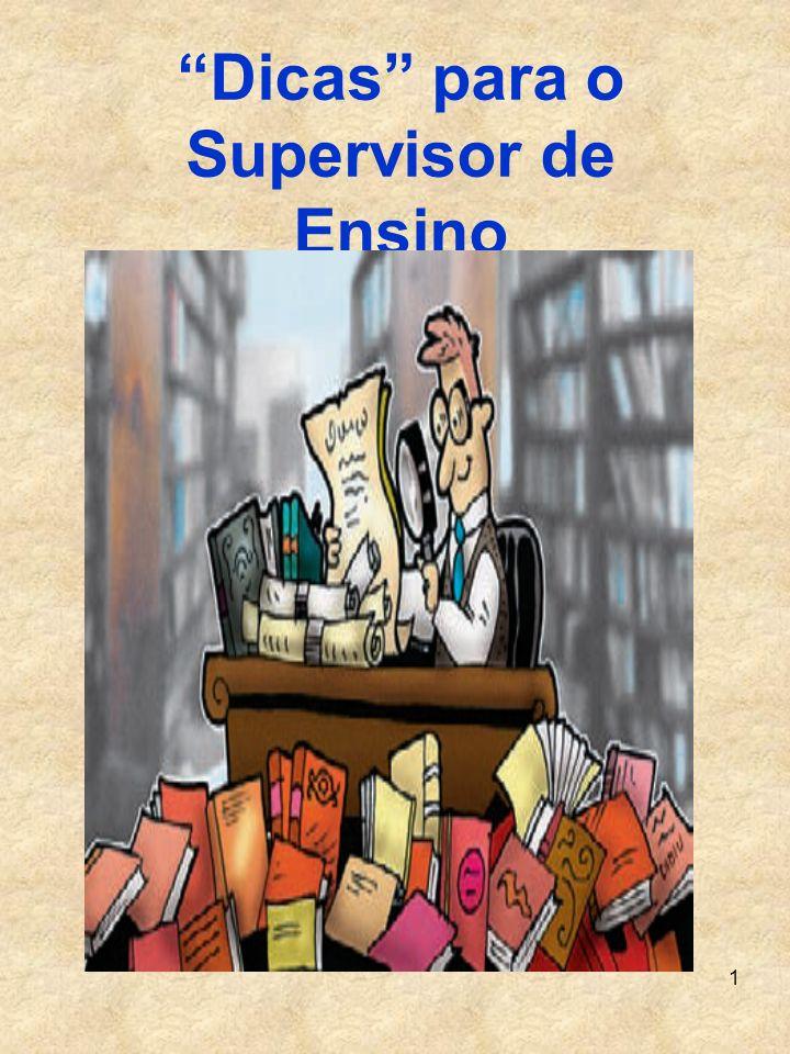 1 Dicas para o Supervisor de Ensino