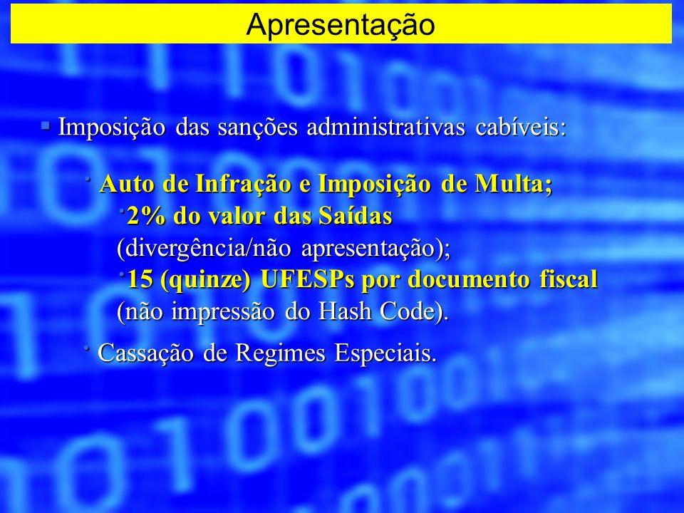 Imposição das sanções administrativas cabíveis: Imposição das sanções administrativas cabíveis: · Auto de Infração e Imposição de Multa; · 2% do valor