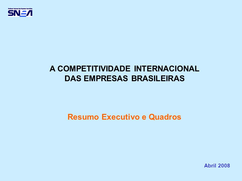 É bem conhecida a importância da Aviação Comercial Brasileira, seja como fator essencial de nossa economia, ou como elemento estratégico na integração nacional e na representação externa de nosso país.