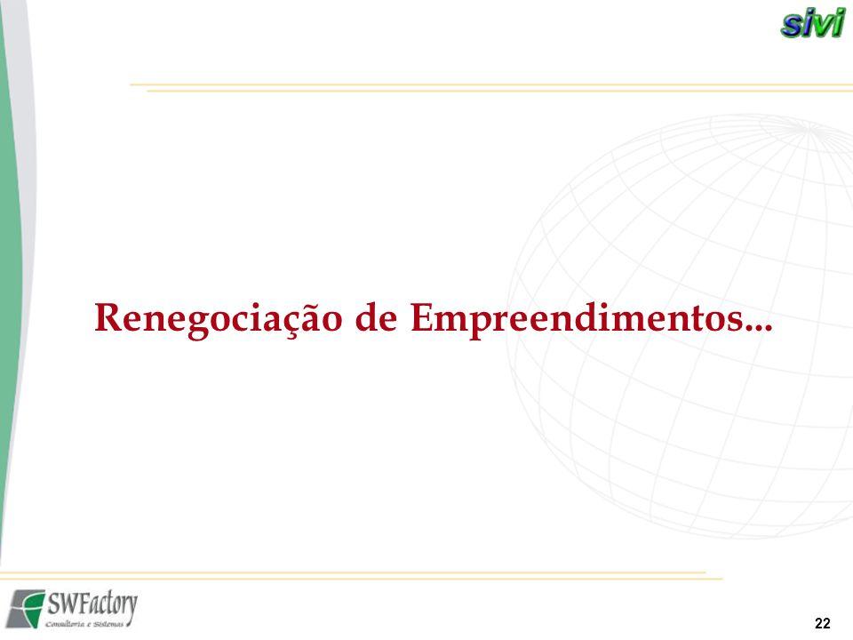22 Renegociação de Empreendimentos...