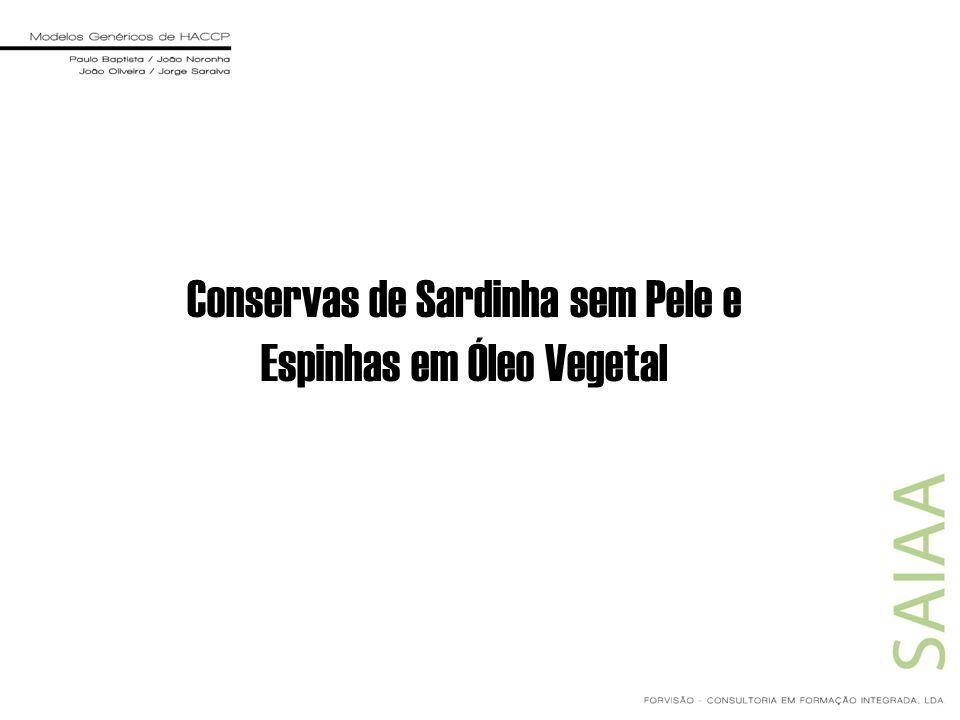 Conservas de Sardinha sem Pele e Espinhas em Óleo Vegetal