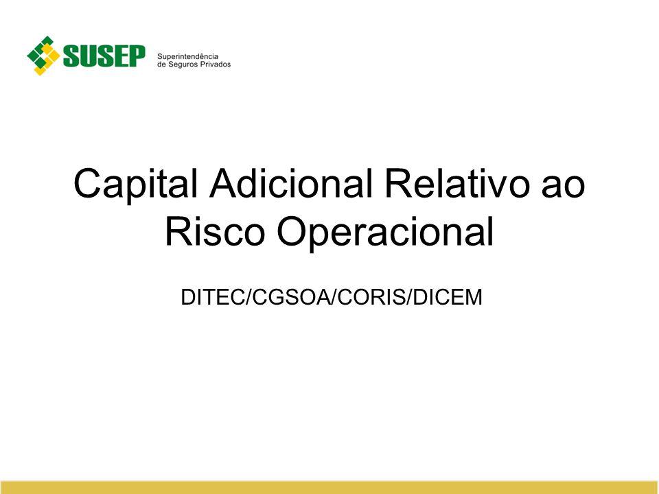 Capital Adicional Relativo ao Risco Operacional DITEC/CGSOA/CORIS/DICEM