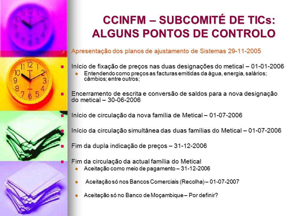 Apresentação dos planos de ajustamento de Sistemas 29-11-2005 Apresentação dos planos de ajustamento de Sistemas 29-11-2005 Início de fixação de preço