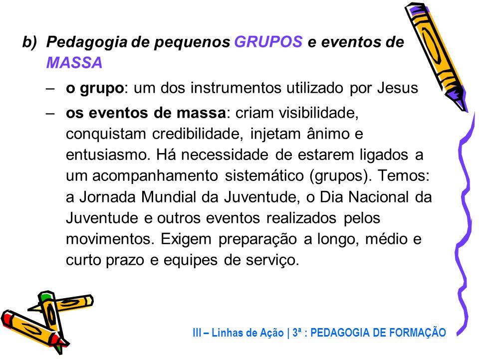 a)Prioridade da EXPERIÊNCIA sobre a teoria partir das necessidades, aspirações, vida, preocupações, linguagem dos jovens inspirar-se em Jesus: Zaqueu,
