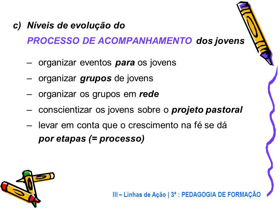 b) Pedagogia de pequenos GRUPOS e eventos de MASSA –o grupo: um dos instrumentos utilizado por Jesus –os eventos de massa: criam visibilidade, conquis
