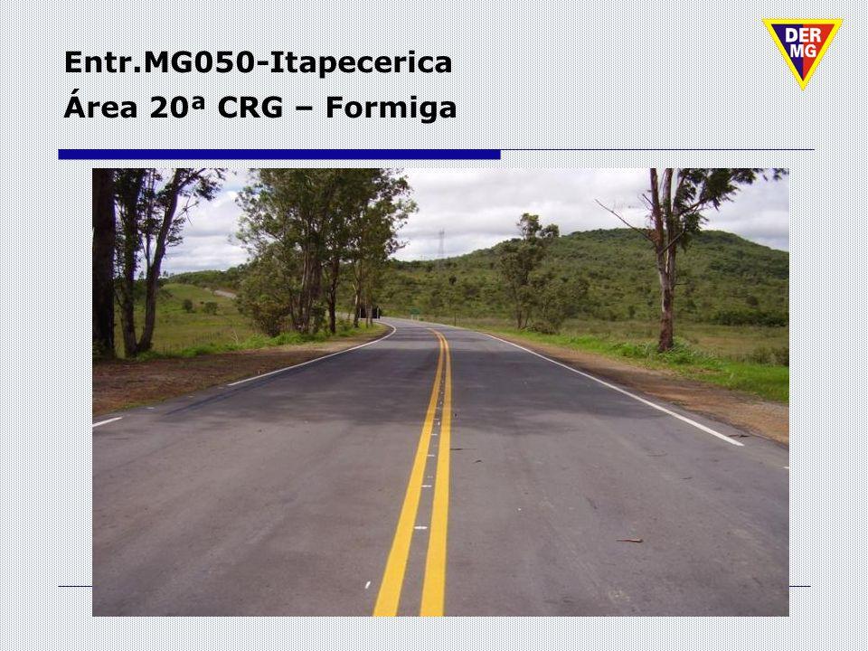 Entr.MG050-Itapecerica Área 20ª CRG – Formiga