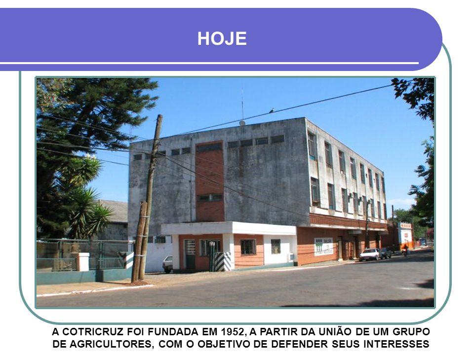 DÉCADA DE 1980 - COTRICRUZ COOPERATIVA TRITÍCULA DE PRODUTORES CRUZ-ALTENSES RUA PINHEIRO MACHADO
