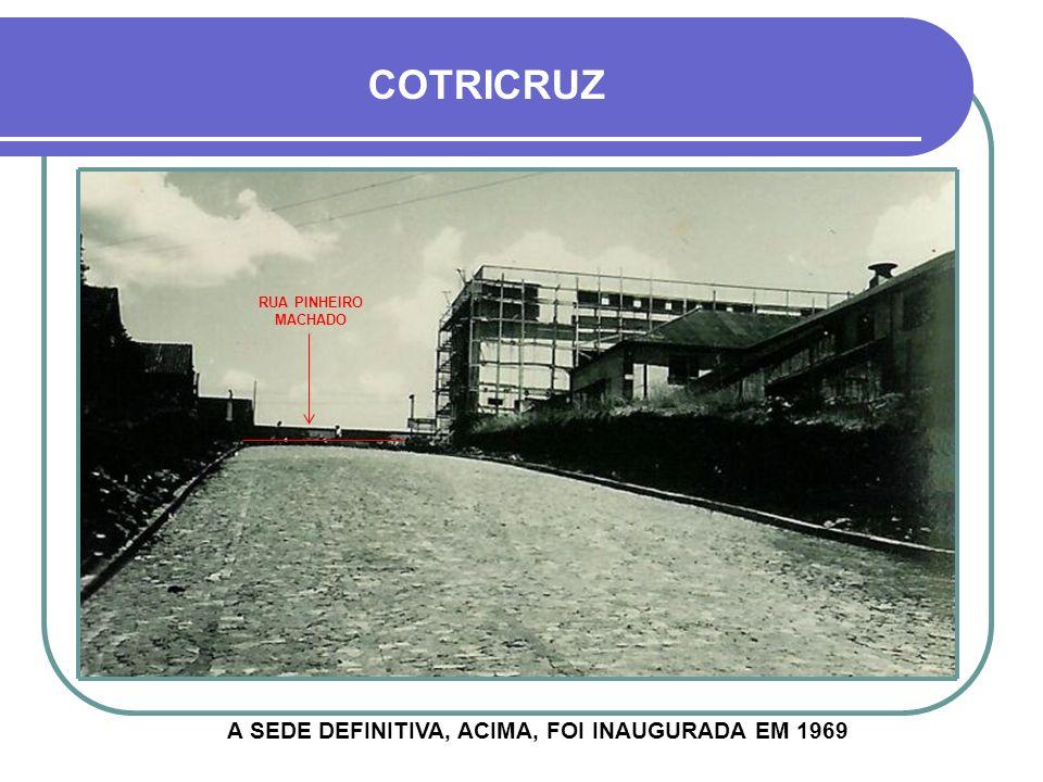 HOJE A COTRICRUZ FOI FUNDADA EM 1952, A PARTIR DA UNIÃO DE UM GRUPO DE AGRICULTORES, COM O OBJETIVO DE DEFENDER SEUS INTERESSES