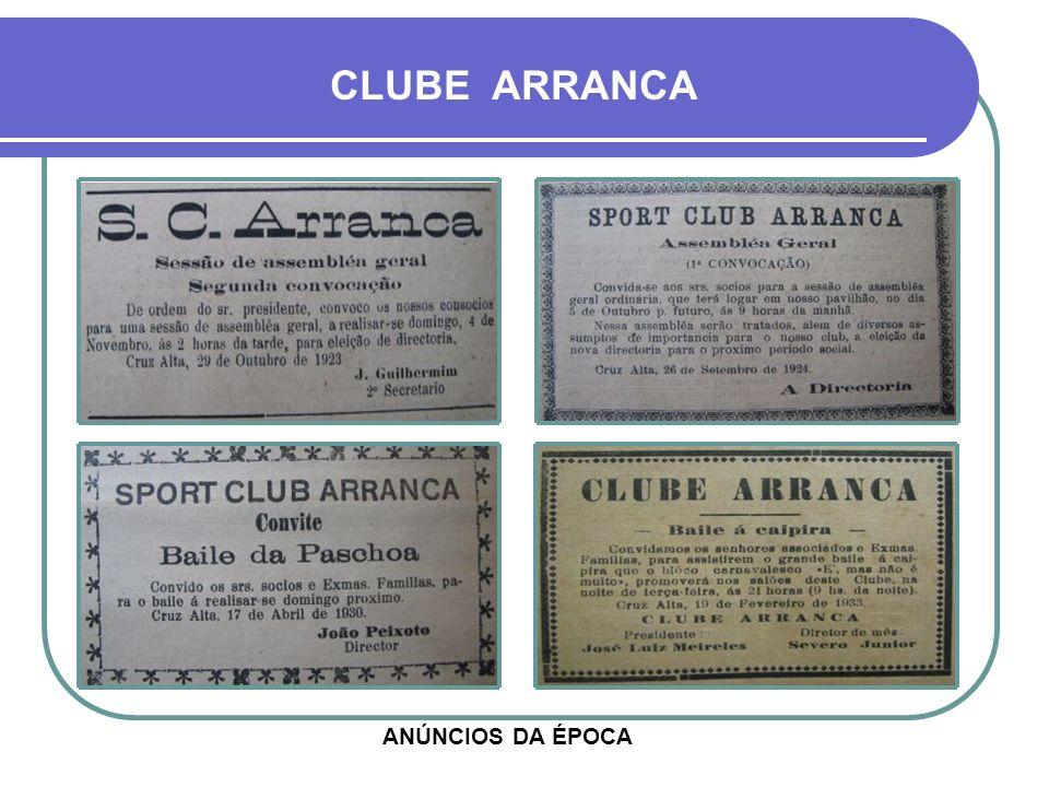 CAMPO DO CLUBE ARRANCA O ARRANCA DEIXOU O FUTEBOL EM 1927, APÓS INCÊNDIO DE SEU PAVILHÃO, SITUADO NA VILA FERROVIÁRIA - ACIMA