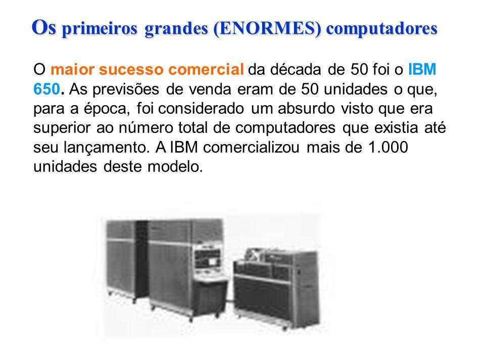 O maior sucesso comercial da década de 50 foi o IBM 650.
