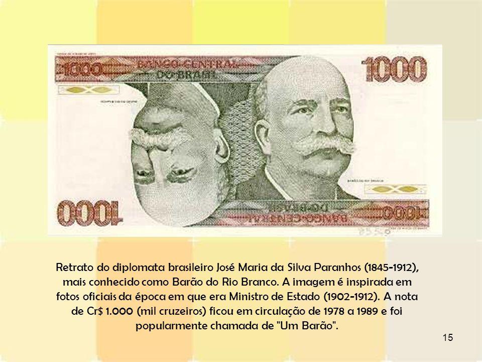 15 Retrato do diplomata brasileiro José Maria da Silva Paranhos (1845-1912), mais conhecido como Barão do Rio Branco. A imagem é inspirada em fotos of