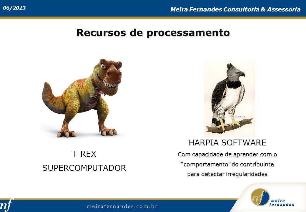 06/2013 Meira Fernandes Consultoria & Assessoria Recursos de processamento T-REX SUPERCOMPUTADOR HARPIA SOFTWARE Com capacidade de aprender com o comp
