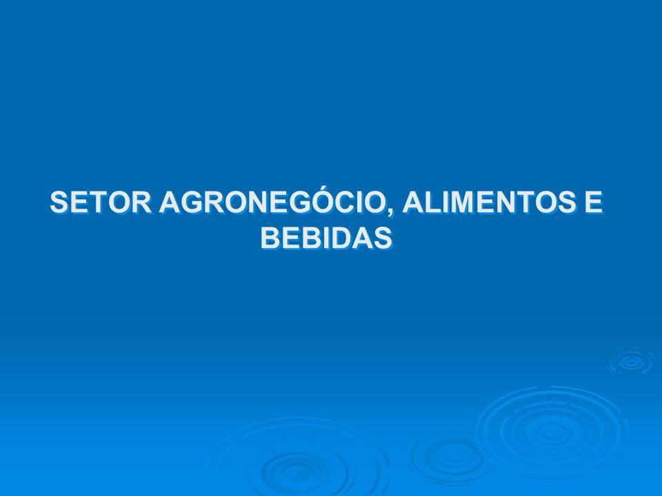 SETOR AGRONEGÓCIO, ALIMENTOS E BEBIDAS