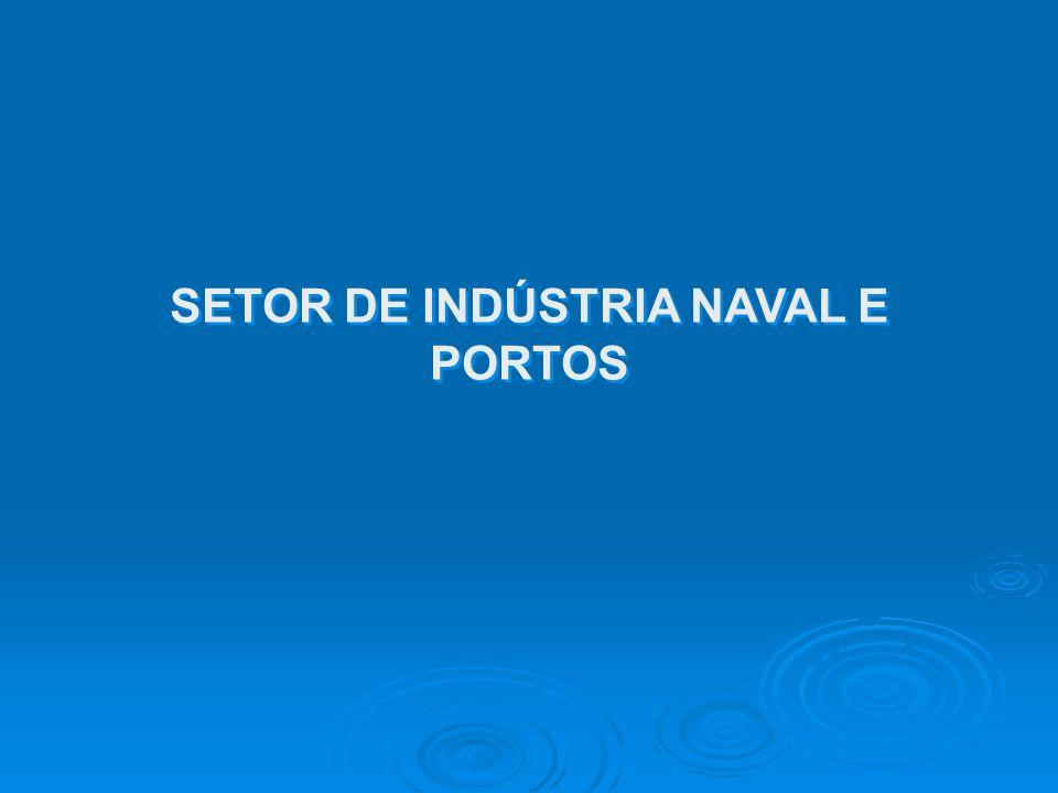 SETOR DE INDÚSTRIA NAVAL E PORTOS