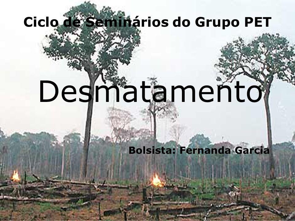 Ciclo de Seminários do Grupo PET Desmatamento Bolsista: Fernanda Garcia