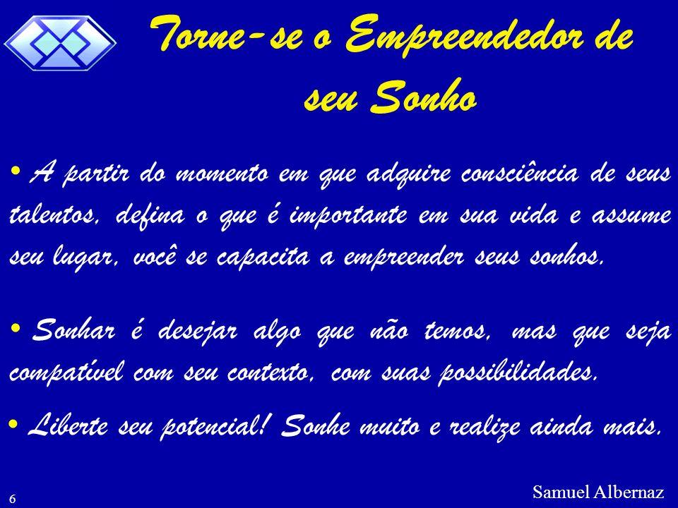 Samuel Albernaz 7 O mais importante é saber, que o futuro nada mais é que uma opção que você faz no presente.