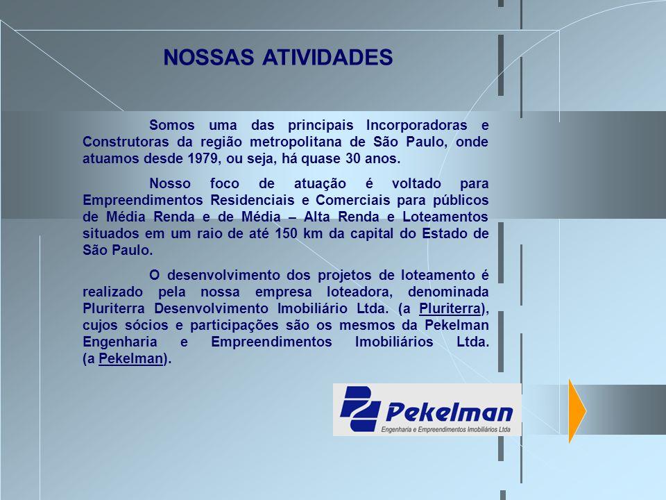 Somos uma das principais Incorporadoras e Construtoras da região metropolitana de São Paulo, onde atuamos desde 1979, ou seja, há quase 30 anos. Nosso