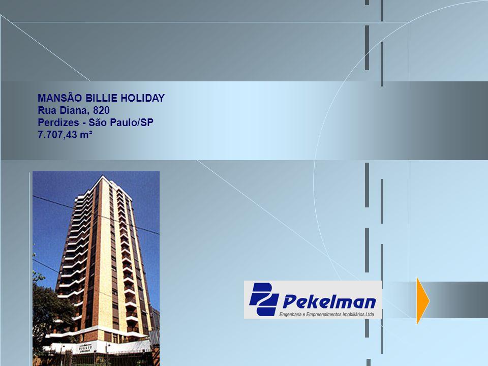 MANSÃO BILLIE HOLIDAY Rua Diana, 820 Perdizes - São Paulo/SP 7.707,43 m²