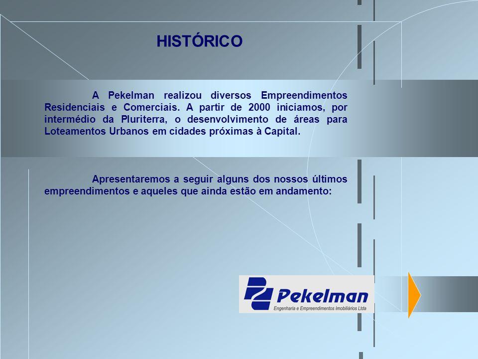 A Pekelman realizou diversos Empreendimentos Residenciais e Comerciais. A partir de 2000 iniciamos, por intermédio da Pluriterra, o desenvolvimento de