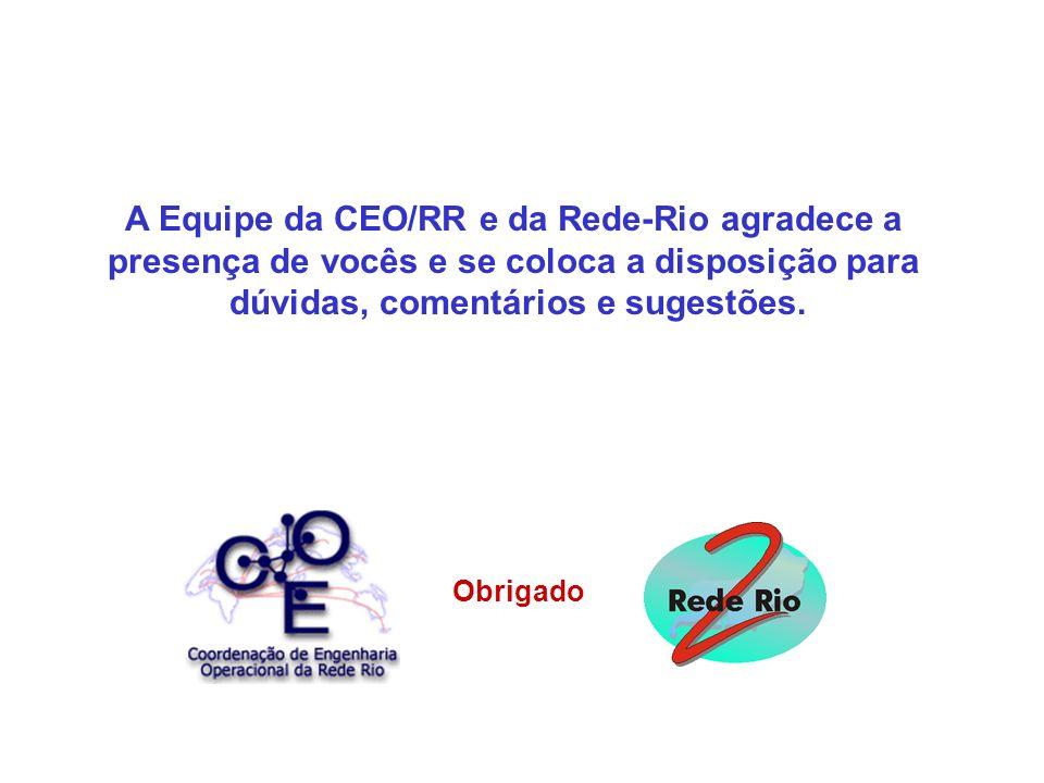 A Equipe da CEO/RR e da Rede-Rio agradece a presença de vocês e se coloca a disposição para dúvidas, comentários e sugestões. Obrigado