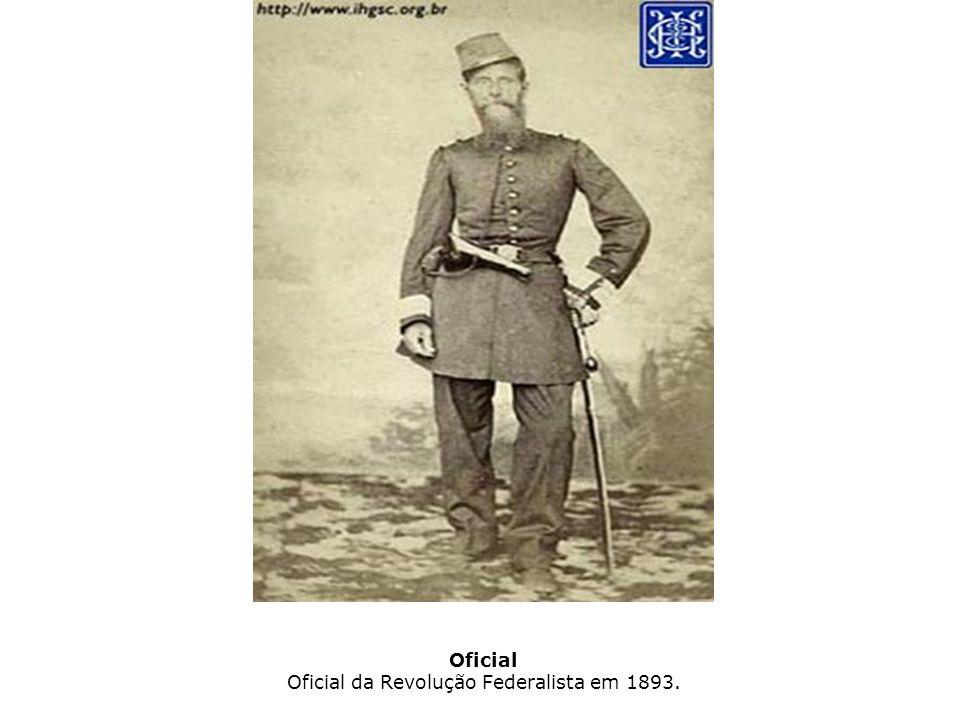 Oficial Oficial da Revolução Federalista em 1893.