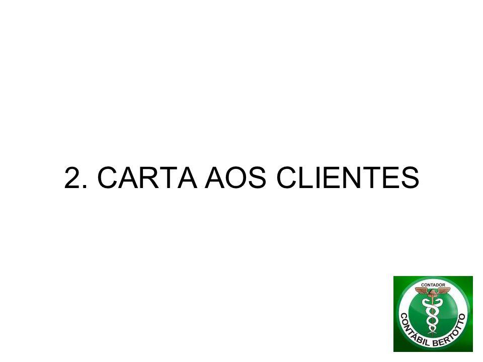 2. CARTA AOS CLIENTES