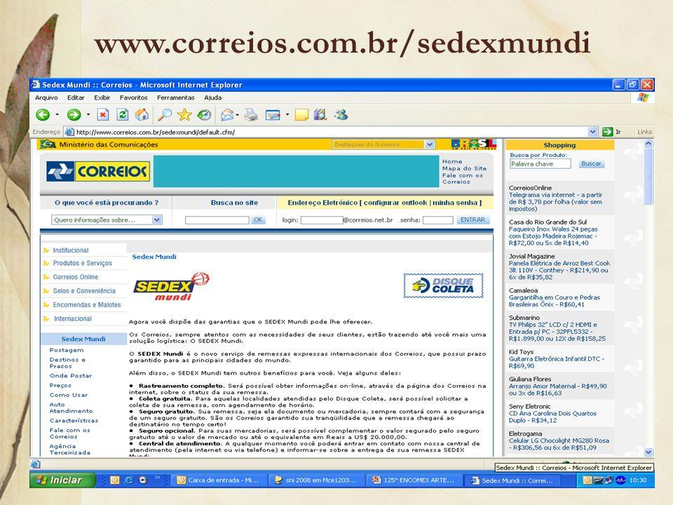www.correios.com.br/sedexmundi